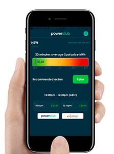 Powerwatch app from Powerclub helps Member track the current wholesale rate
