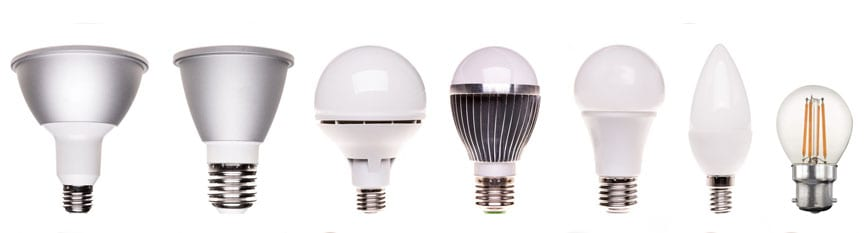 Many options for LED energy saving lighting