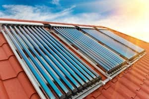 Hot water energy saving evacuated tube solar heating