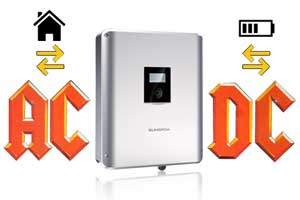 Hybrid inverter converts AC to DC and back